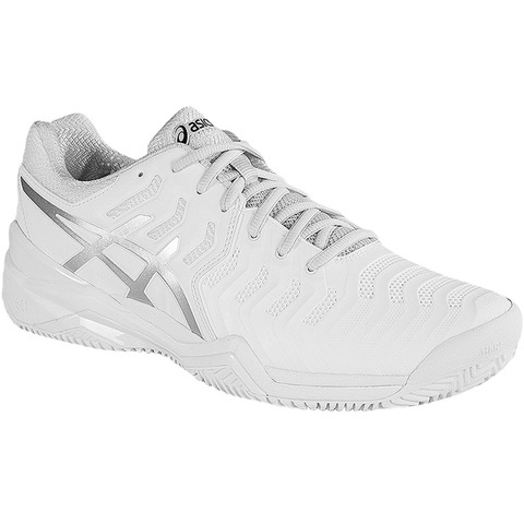 00db684d Asics Gel Resolution 7 CLAY Women's Tennis Shoe White/silver