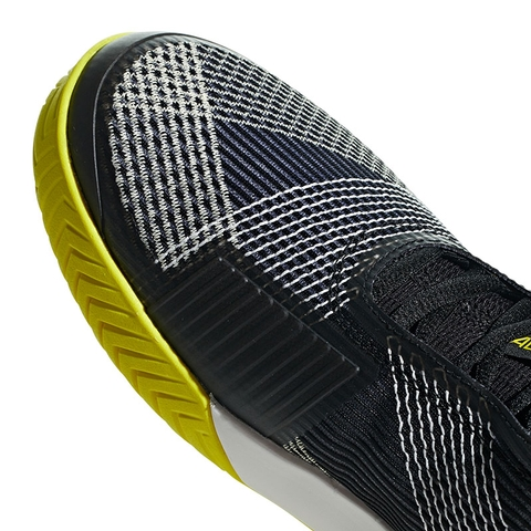 15e83d6497e1 Adidas Adizero Ubersonic 3 Mens Tennis Shoe Black yellow