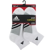 Adidas Striped 6 Pack Quarter Junior's Tennis Socks