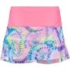 Lucky In Love Mesh Tie-Dye Scallop Girl's Tennis Skirt